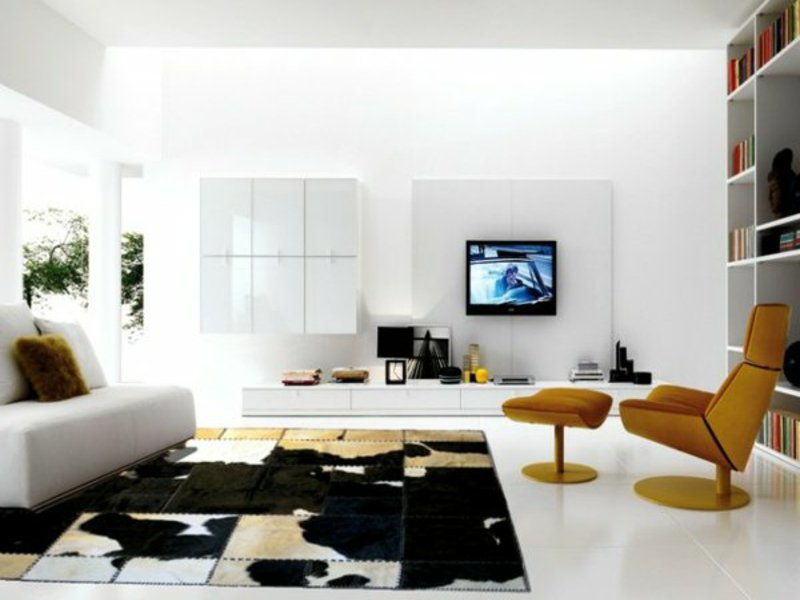 wohnzimmerteppich und weiße farbe