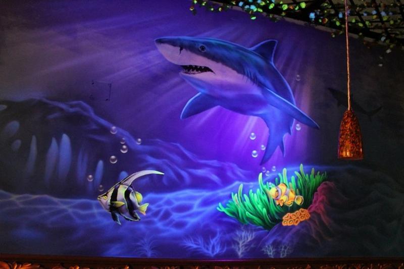 Unterwasserwelt selbstleuchtende Farben