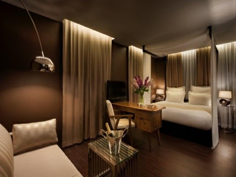 luxus schlafzimmer idee in braun