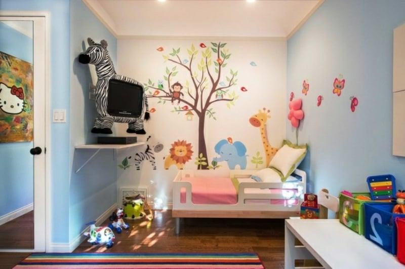 Kinderzimmerdesign Wandmalerei