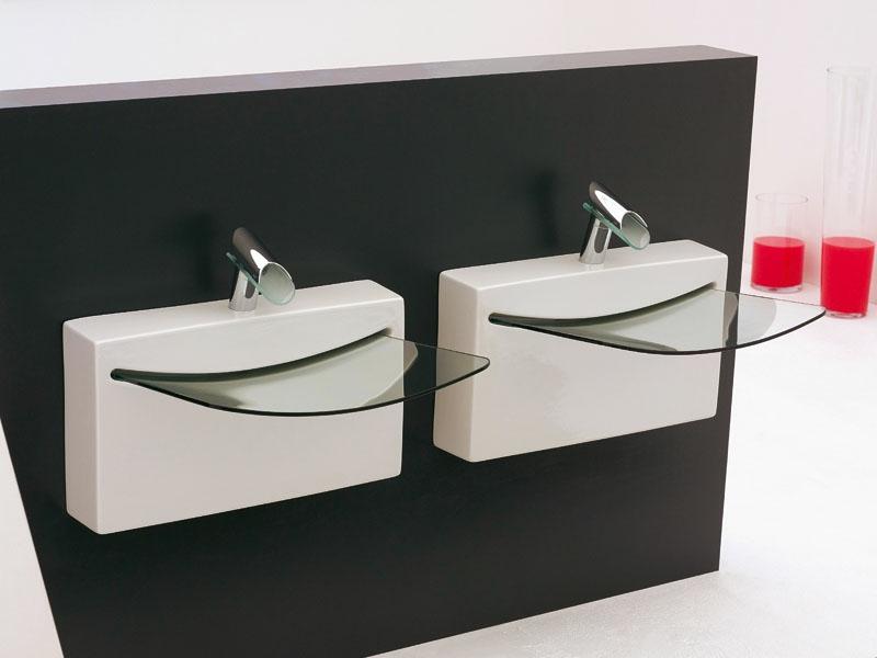 kleine glaswaschbecken für zwei