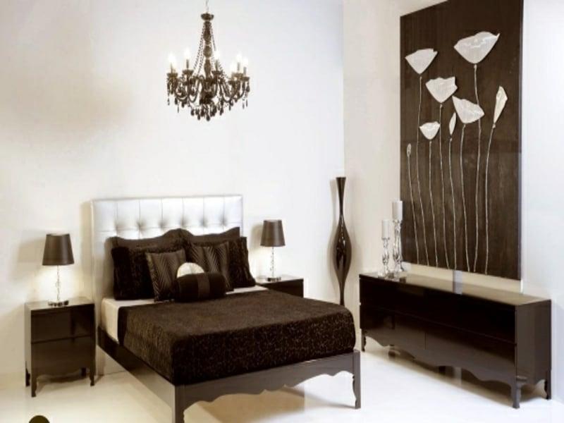 Klein Luxus Schlafzimmer In Weiß Und Braun