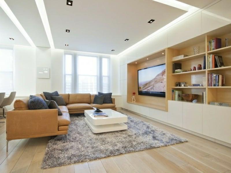 moderne indireke beleuchtung im wohnzimmer