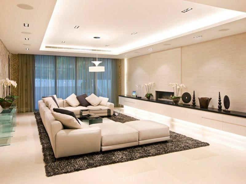 moderne indirekte beleuchtung im wohnzimmer