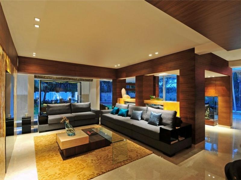 led spots in den wohnzimmereinrichtungen