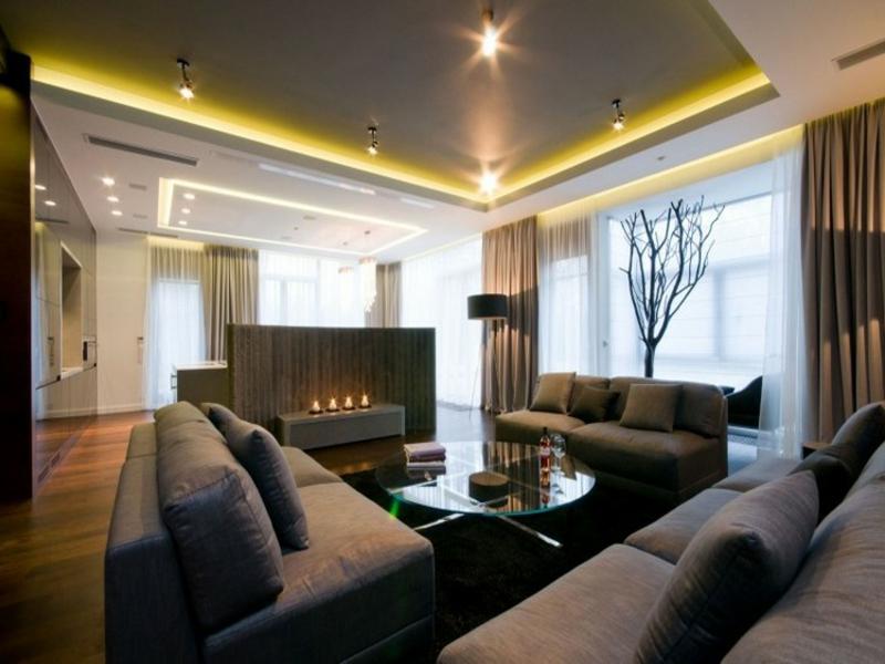 indirekte und direkte beleuchtung im wohnzimmer