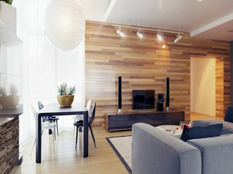 kleine ledlampen in den wohnzimmereinrichtungen