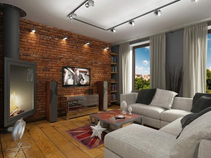 zwei typen von beleuchtung in dne wohnzimmereinrichtungen