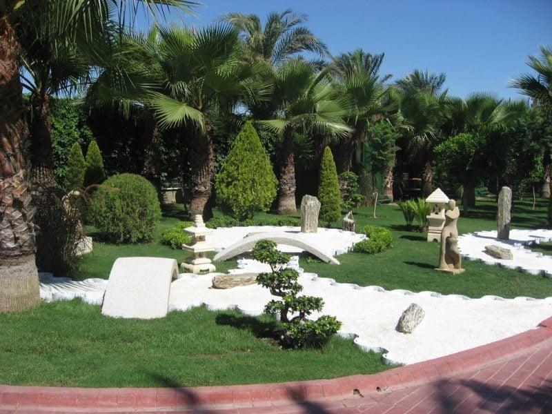 moderner Zengarten