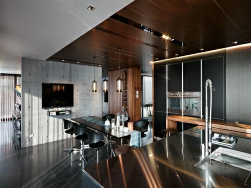 moderne schöne kücheninsel