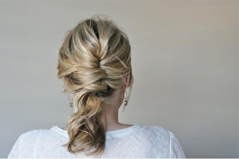 Flectfrisur schulterlange Haare