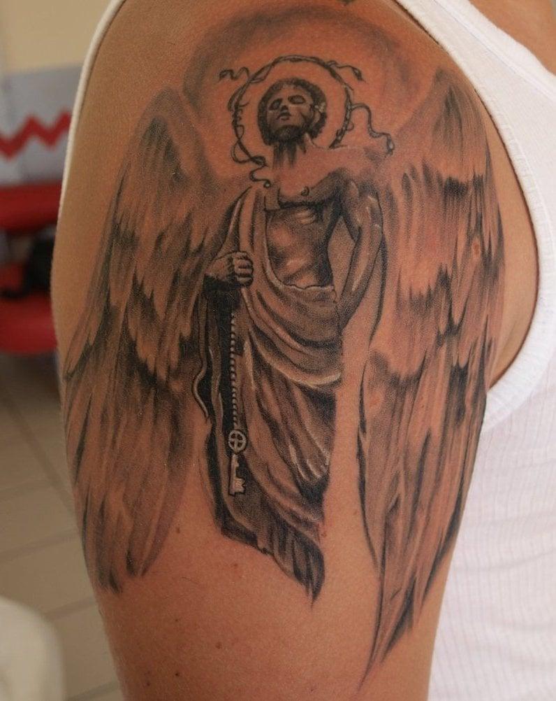 Engel Tattoos Schulder