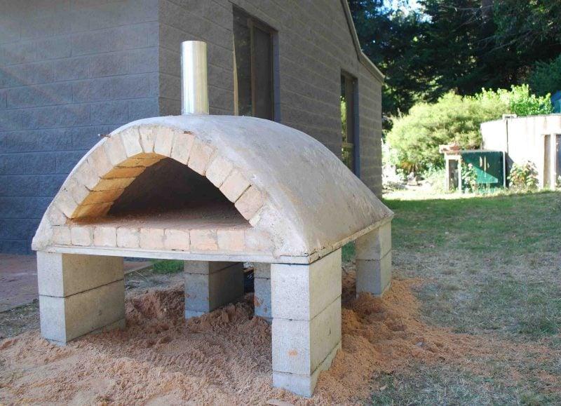 Backofen selber machen Zement