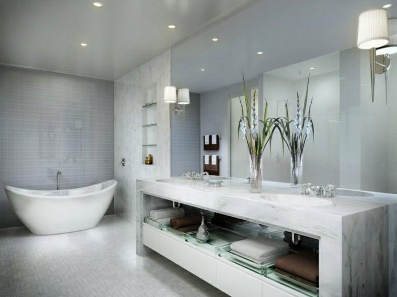 wunderschöne wandleuchten im bad