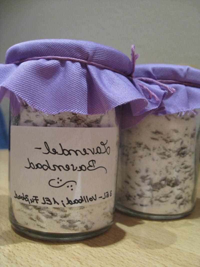 Badesalz selber machen Lavendel