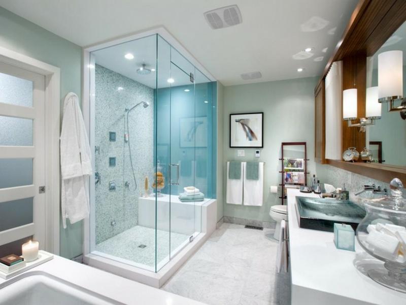pastellfarben in der badezimmergestaltung mit glas