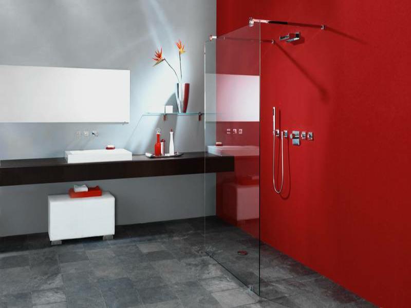 glasregal in der badezimmergestaltung