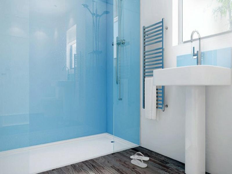 glas statt fließen im bad