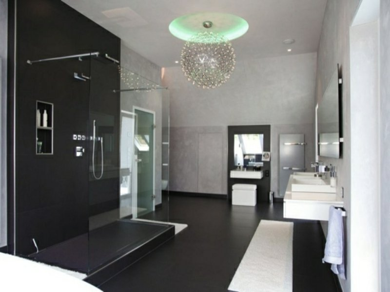 badezimmergestaltung mit glas badezimmer toiletten. Black Bedroom Furniture Sets. Home Design Ideas