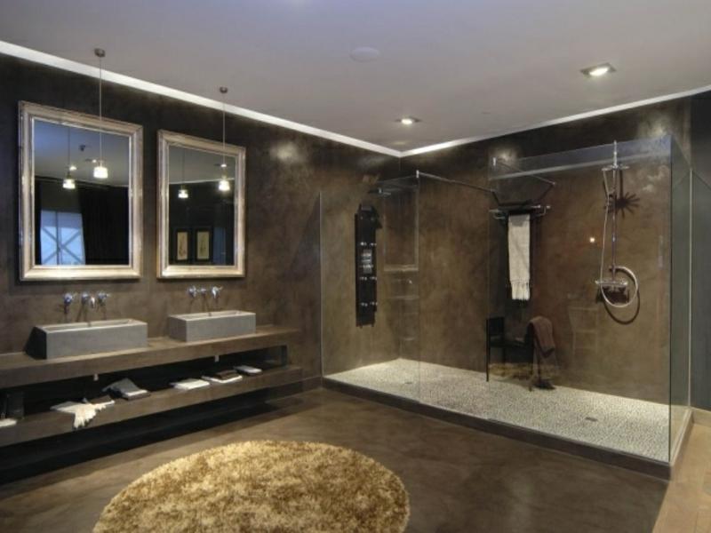 schöne glaswand in der badezimmmergestaltung