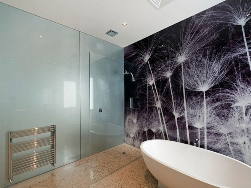 badezimmergestaltung und wanddekoration