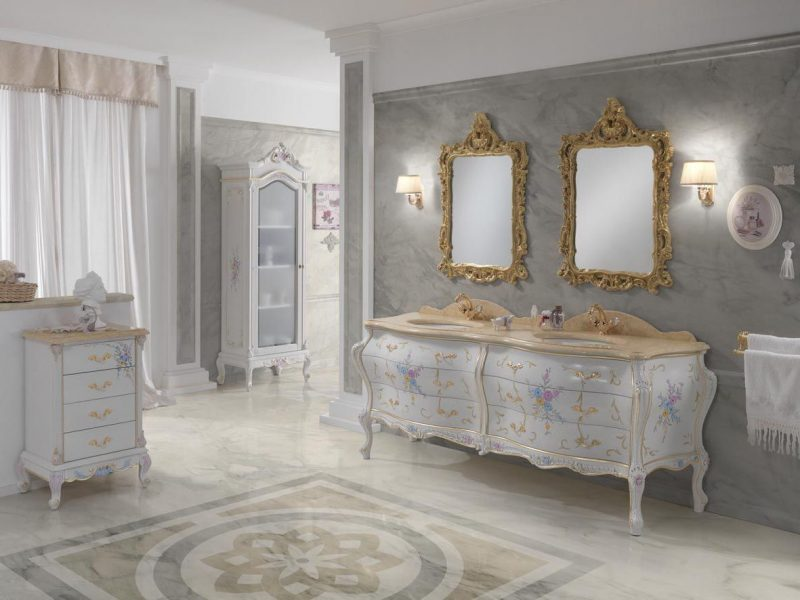 Barockmöbel Badezimmer weiss