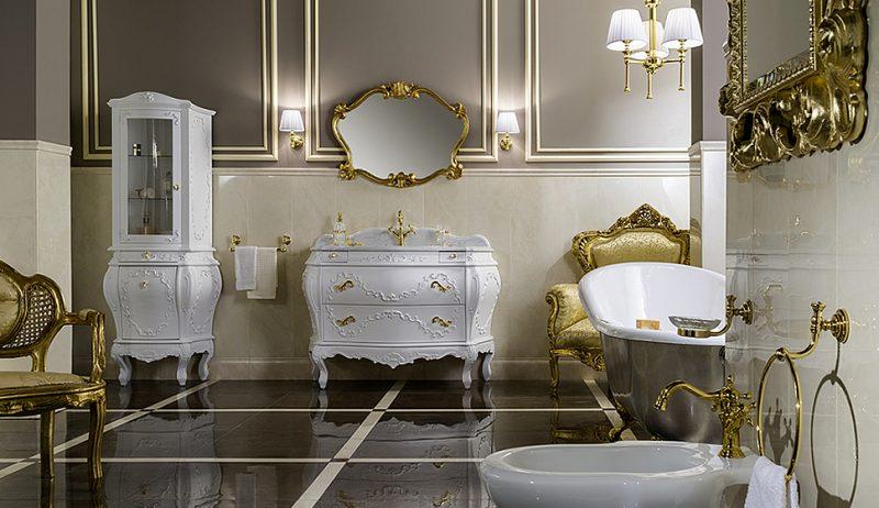 Inspiration Vom Versailles Schloss: 36 Ideen Für Barockmöbel ... Badezimmer Schwarz Wei Gold