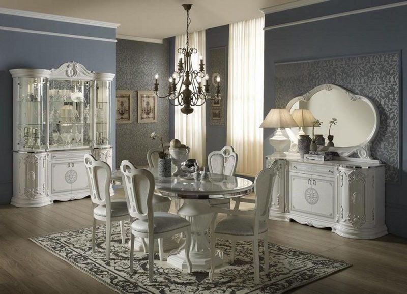 Barockmöbel Esszimmer in Weiss