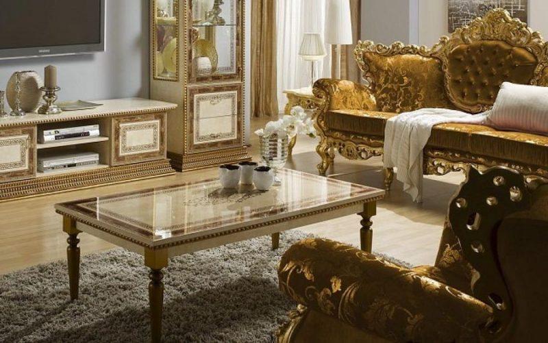 Barockmöbel Wohnzimmer Gold