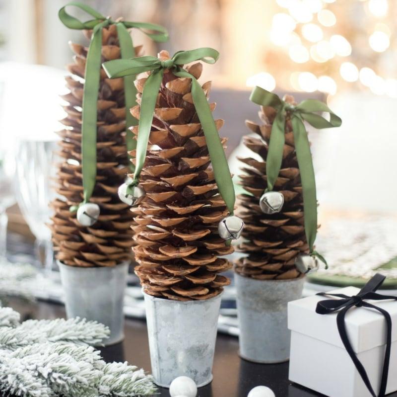 Basteln Mit Tannenzapfen Ideen Für Weihnachten