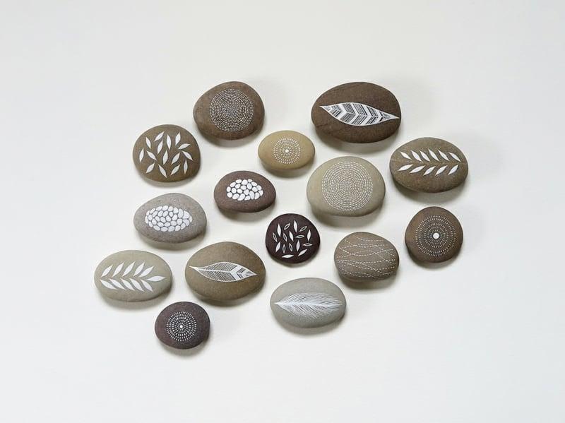 bemalte steine fuer dekoration