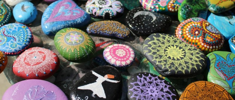bemalte steine verschiedene motiven