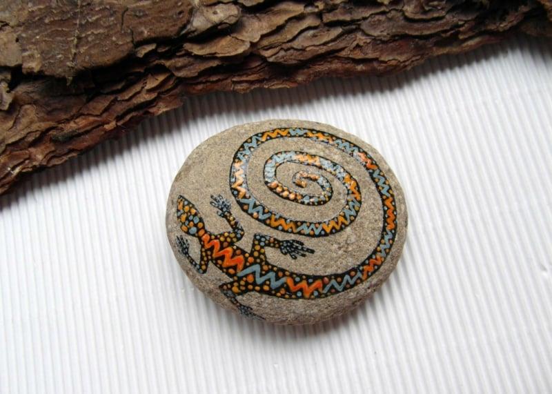 bemalte steine tier