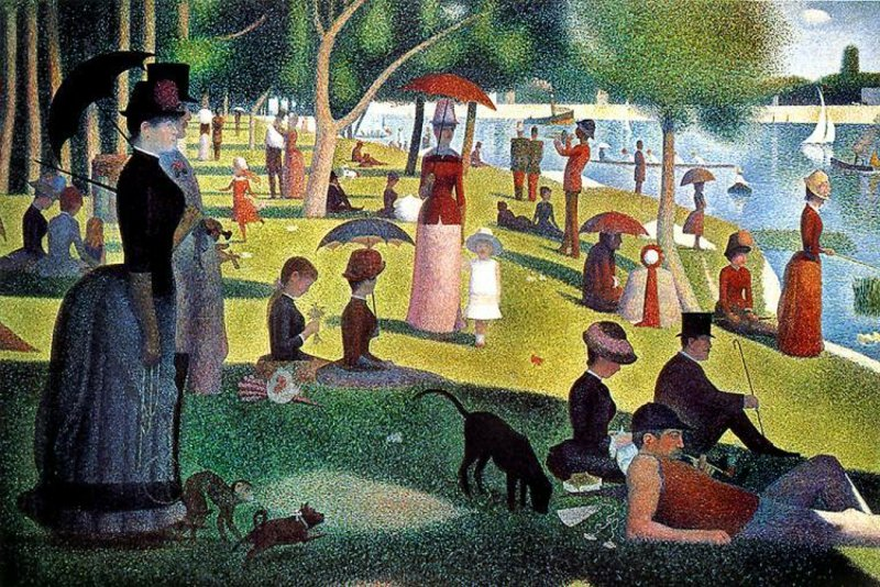 berühmte-kunstwerke-A Sunday Afternoon on the Island of La Grande Jatte