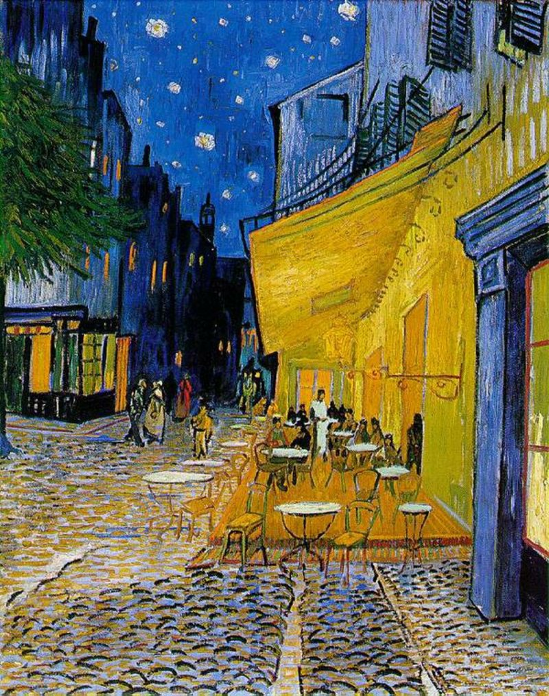 berühmte-kunstwerke-Cafe Terrace at Night