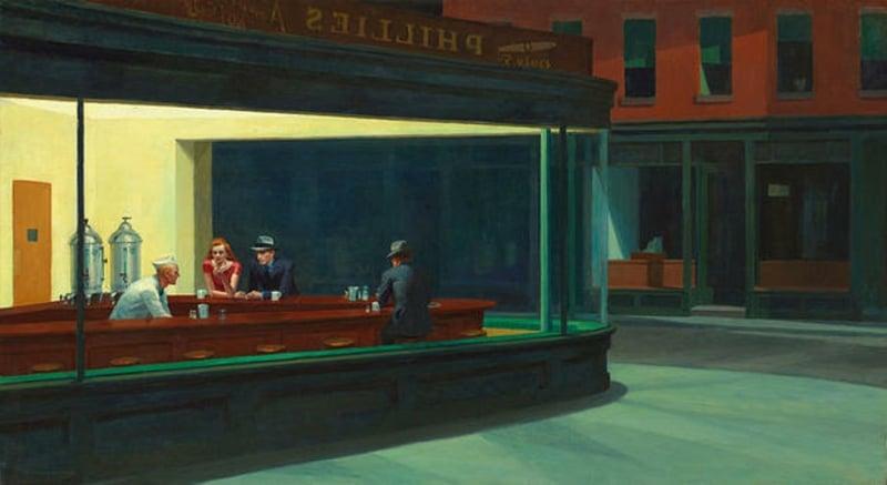 berühmte-kunstwerke-Nighthawks
