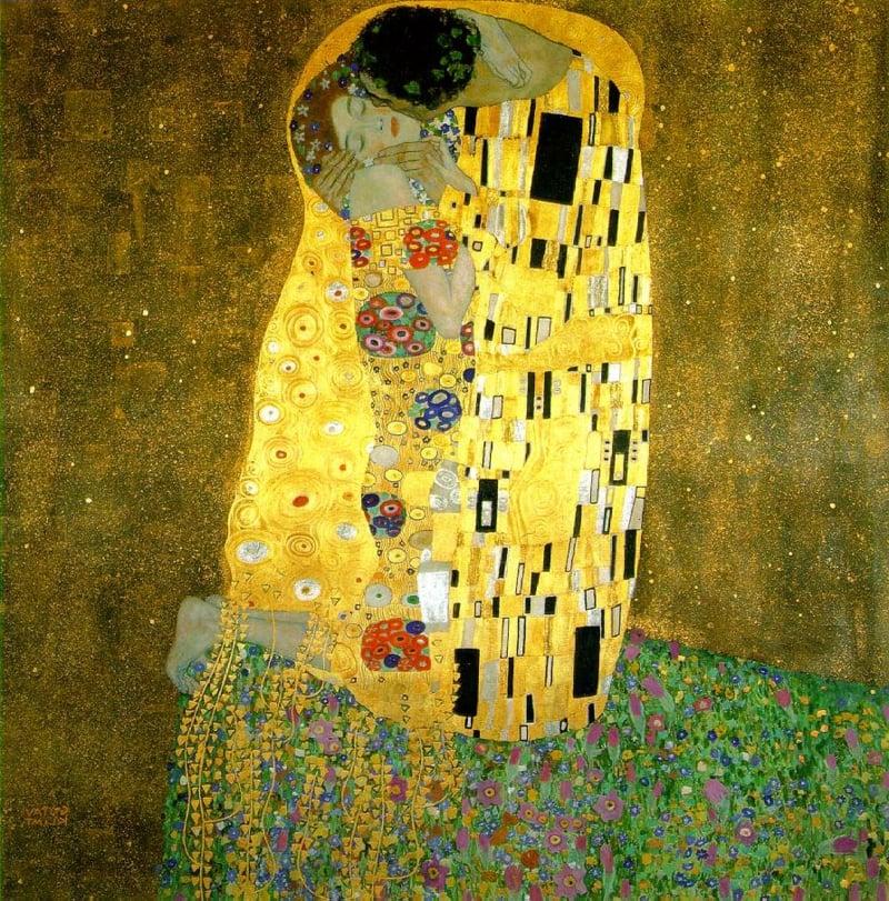 berühmte-kunstwerke-The Kiss