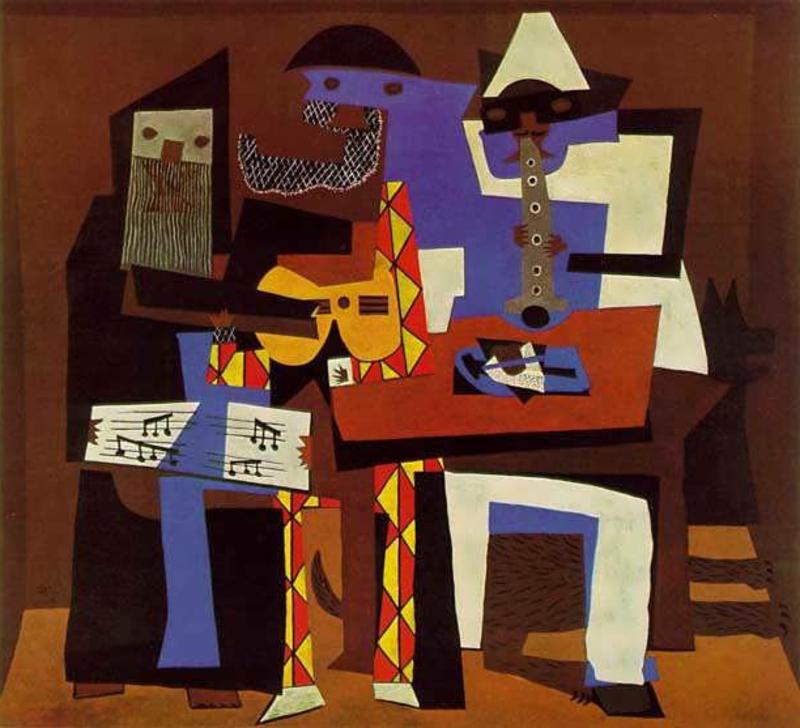 berühmte-kunstwerke-Three Musicians
