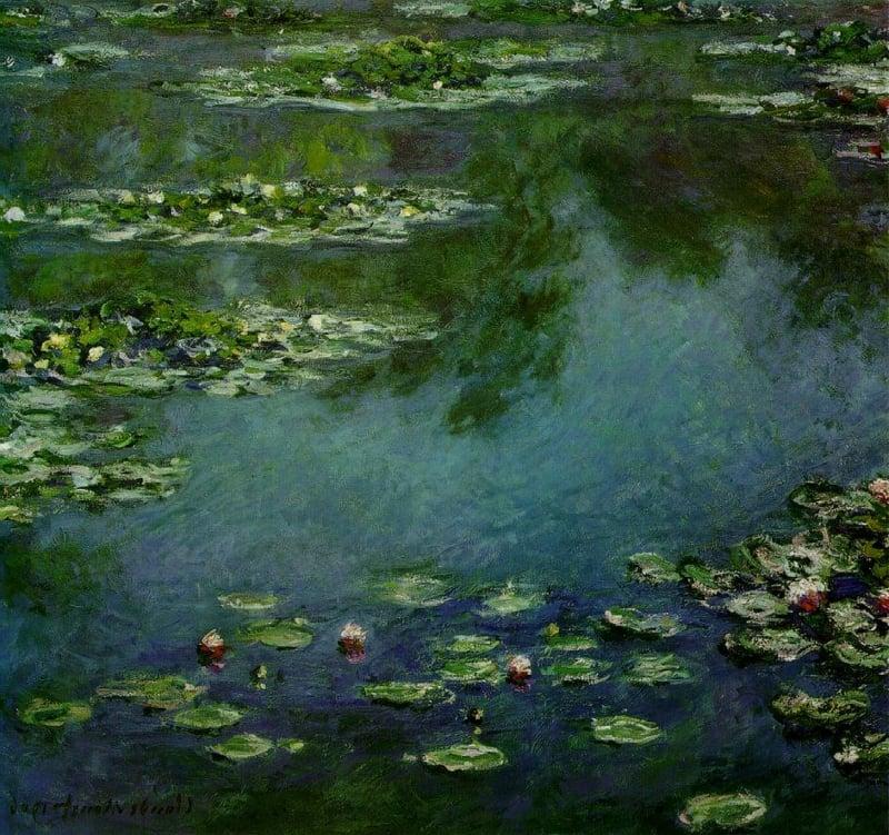 berühmte-kunstwerke-Water Lilies