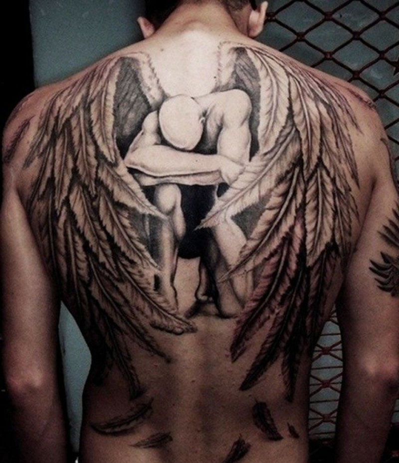 beste-tattoos-The fallen angel tattoo