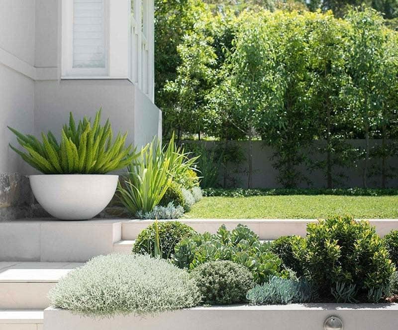 beton pflanzkübel Garten gruen gestalten