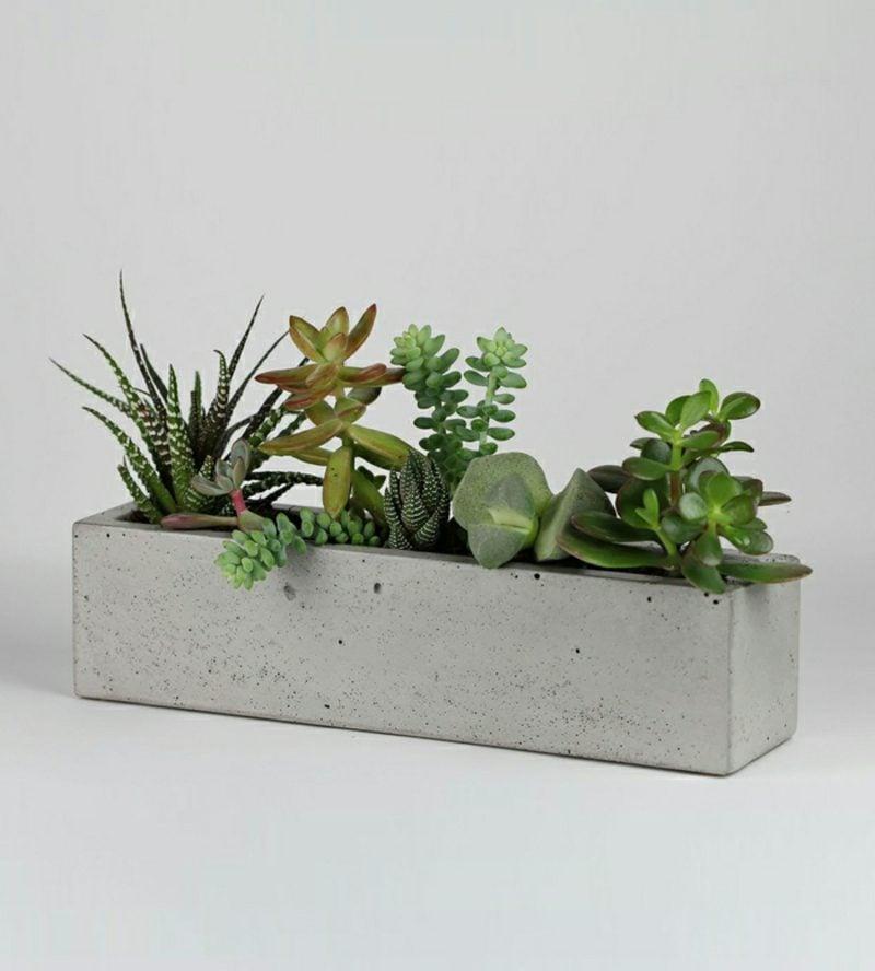 beton pflanzkübel alles in grau