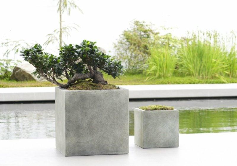 beton pflanzkübel bastelideen