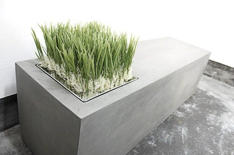 beton pflanzkübel bench lyon