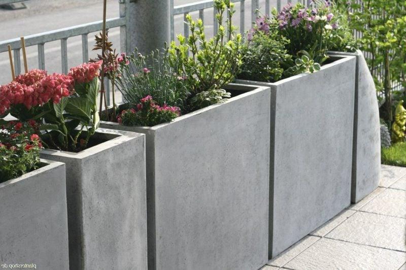 beton pflanzkübel ideen