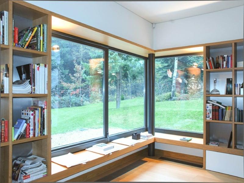 designer bibliothek am eckfenster