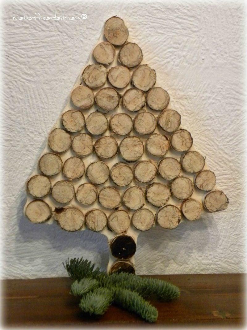Birkenstamm Deko Weihnachten