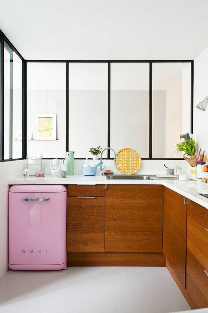 Bosch Retro Kuhlschrank Pink