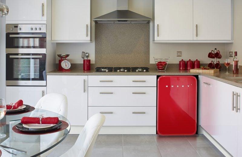 Bosch Retro Kuhlschrank Rot Weiss