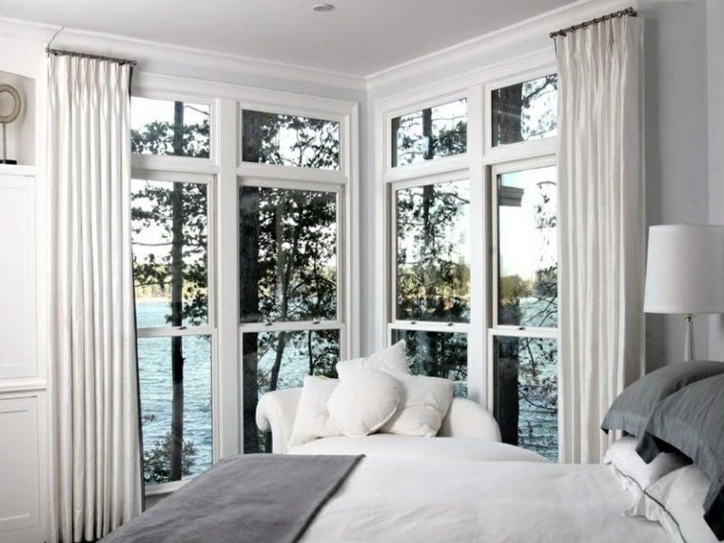 chromfarben und eckfenstergestaltung